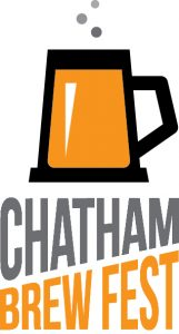 Chatham Brew Fest logo features a mug of beer with bubbles above.
